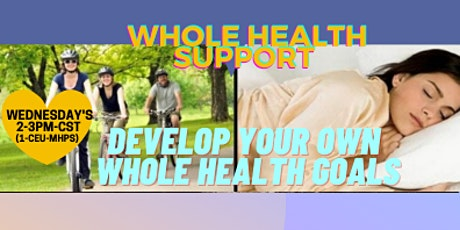 FREE Whole Health Support Cafe  (1 CEU-MHPS) WEDNESDAYS  2-3PM cst tickets