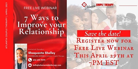7 Ways to Improve Your Relationship tickets