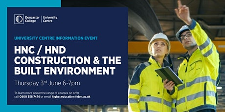 HNC / HND  Construction & The Built Environment tickets