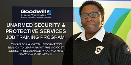Unarmed Security & Protective Services Job Training Program - Info Sessions tickets