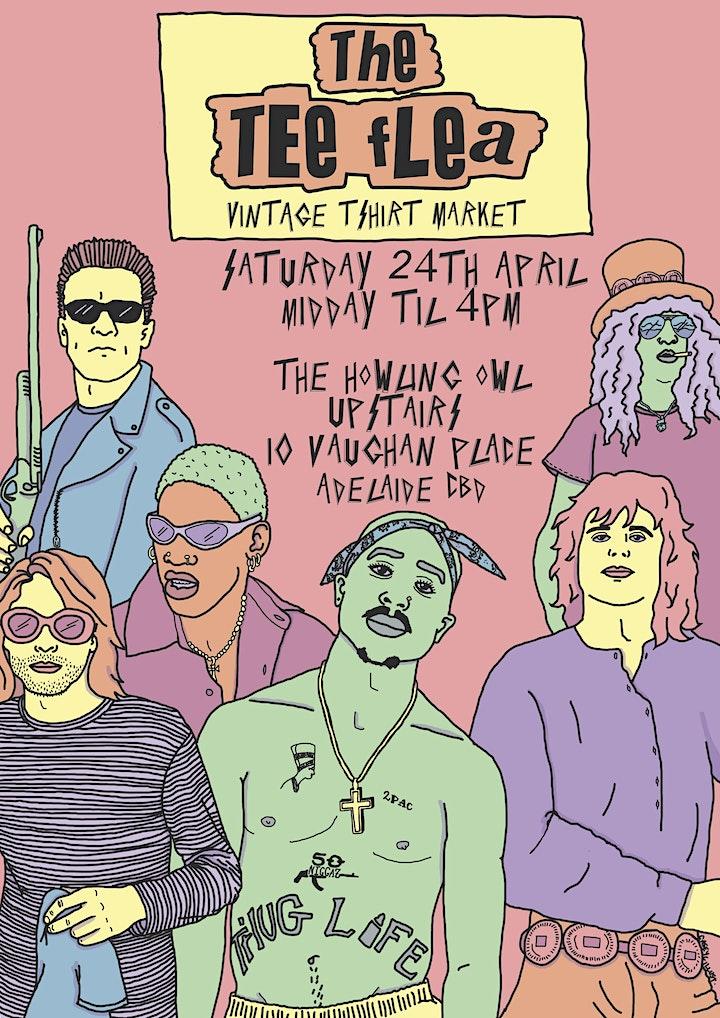 THE TEE FLEA: VINTAGE T-SHIRT MARKET in Adelaide CBD image