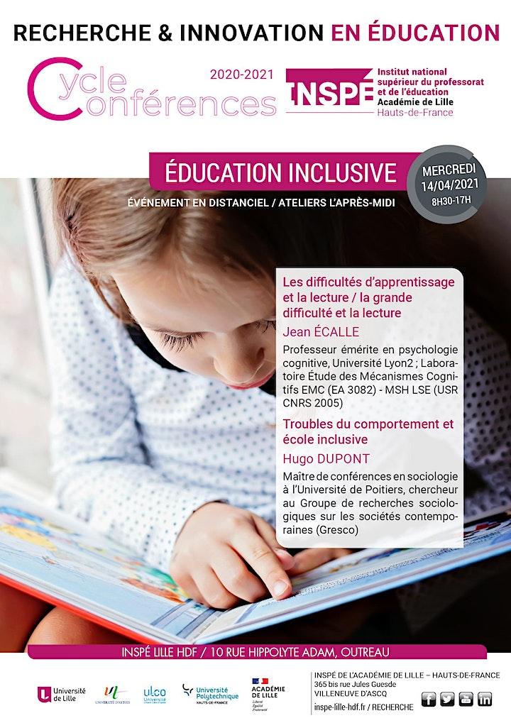 """Image pour Ateliers du 14 avril 2021 - Journée d'études """"Education inclusive"""""""