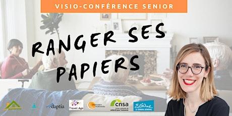 Visio-conférence senior GRATUITE - Ranger ses papiers billets