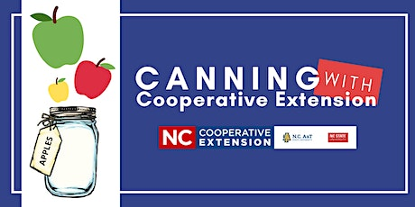 Canning With Cooperative Extension - Apples tickets