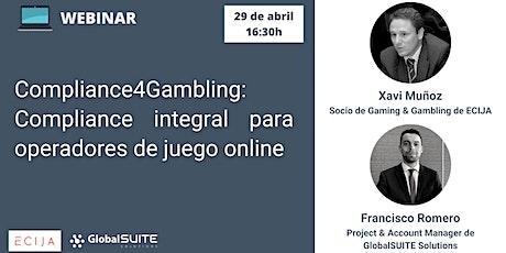 Compliance4Gambling: COMPLIANCE INTEGRAL PARA OPERADORES DE JUEGO ONLINE boletos
