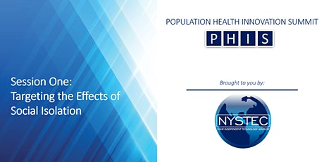 PHIS 2021 - Targeting Effects of Social Isolation Webinar tickets