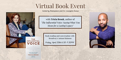 Book Event:'The Influential Voice'  by Tricia Brouk,  Shakespeare & Co. NYC tickets