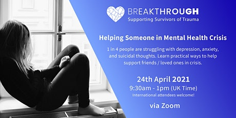 Online Mental Training - Helping Someone in Mental Health Crisis tickets