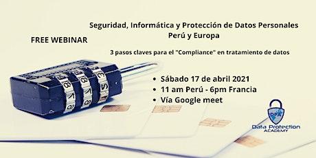 Seguridad, Informática y Protección de Datos Personales– Perú y Europa entradas