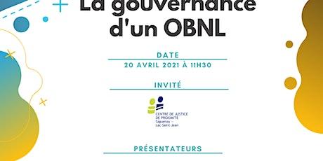 La gouvernance d'un OBNL billets
