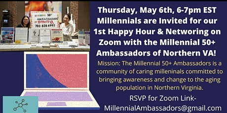 Millennial 50+ Ambassadors of Northern VA Happy Hour and Networking on Zoom tickets