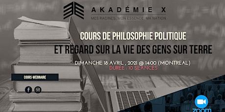 COURS DE PHILOSOPHIE POLITIQUE Tickets