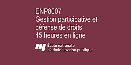 Gestion participative (intensif) : du lundi au dimanche du 23 au 29 août tickets