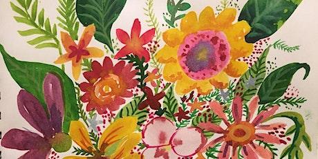 Art Night: Watercolour Flowers tickets