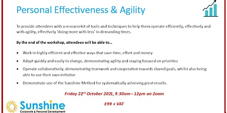Personal Effectiveness & Agility (online training workshop) tickets