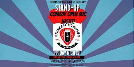Broken Strings Brewery Comedy Open Mic tickets
