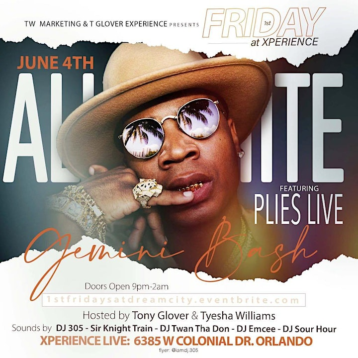 """1st Friday @ Xperience """"All White"""" Affair Featuring Plies image"""