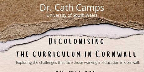 Decolonising the curriculum in Cornwall tickets