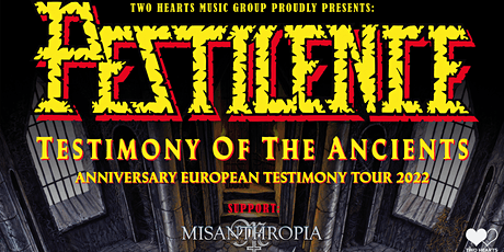 PESTILENCE - TESTIMONY OF THE ANCIENTS - 30th Anniversary Tour • Berlin Tickets