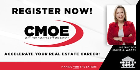 Certified Multiple Offers Expert (CMOE) -  Zoom Class (Johnell Woody) tickets
