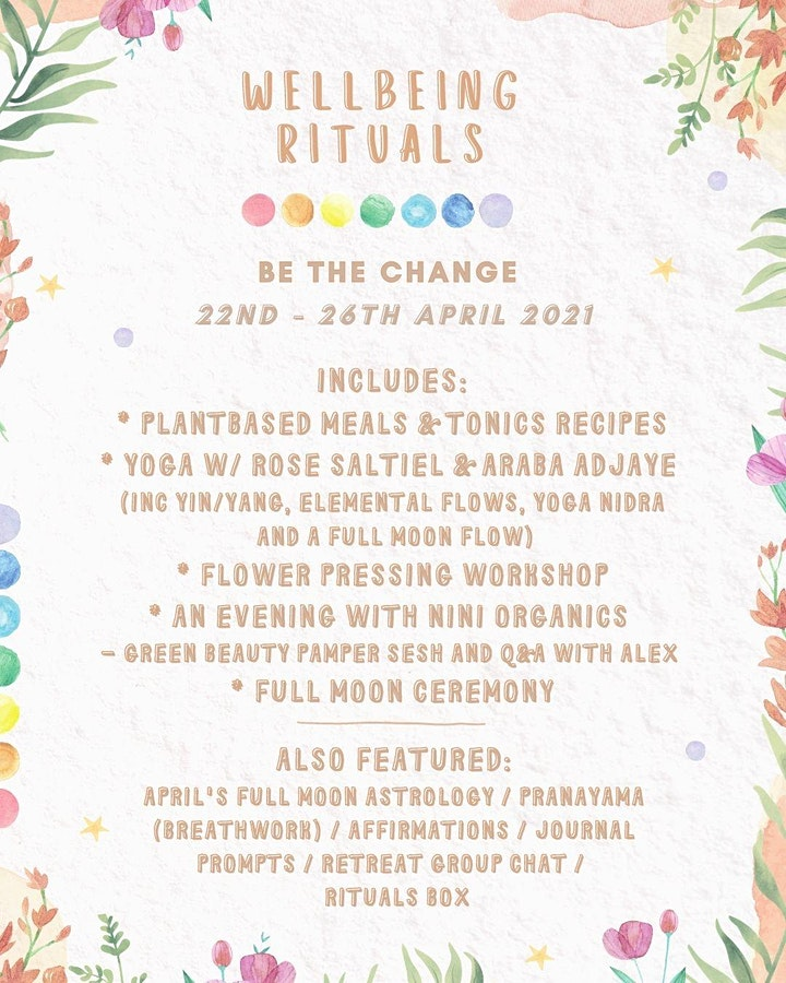 Full Moon Retreat - Be The Change image