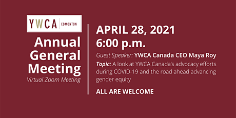 YWCA Edmonton 114th Annual General Meeting tickets