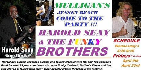 FREE ~  HAROLD SEAY & FUNKY BUNCH ~ ROCKING THE RIVER - TGIF EVENT ! tickets