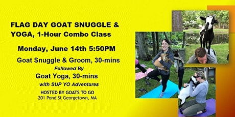 Flag Day Goat Snuggle & Yoga Combo Class tickets