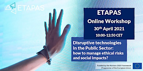 ETAPAS workshop on Disruptive technologies in the Public Sector tickets