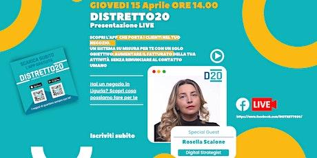 Presentazione dell'app DISTRETTO20 - Live Streaming biglietti