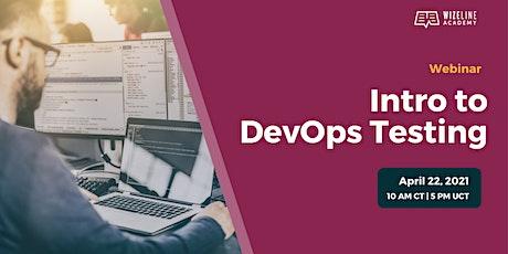Intro to DevOps Testing tickets