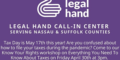 'Know Your Rights' Workshop on Everything You Need to Know about Taxes tickets