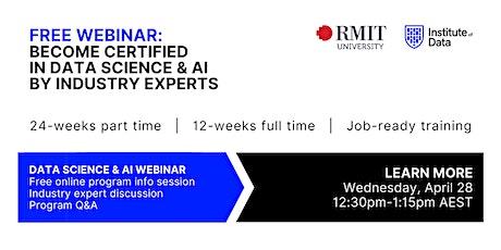 Webinar - Data Science & AI Program Online Info Session: 12:30pm - April 28 tickets
