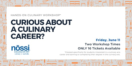 Hands-on Culinary Workshop - Calling All Culinary Art Students! tickets