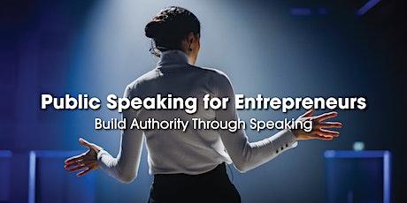 Public Speaking for Entrepreneurs tickets