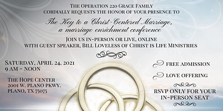 The Key to a Christ-Centered Marriage Conference tickets