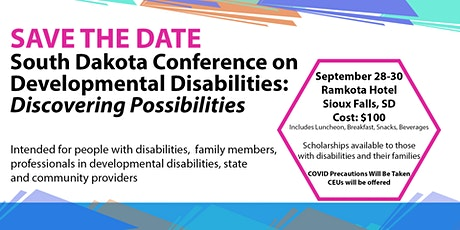 SD Conference on Dev. Disabilities & Center for Disabilities 50th Aniv. tickets