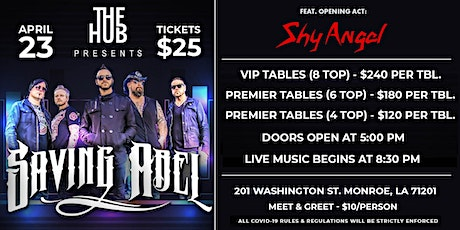 Saving Abel with Shy Angel tickets