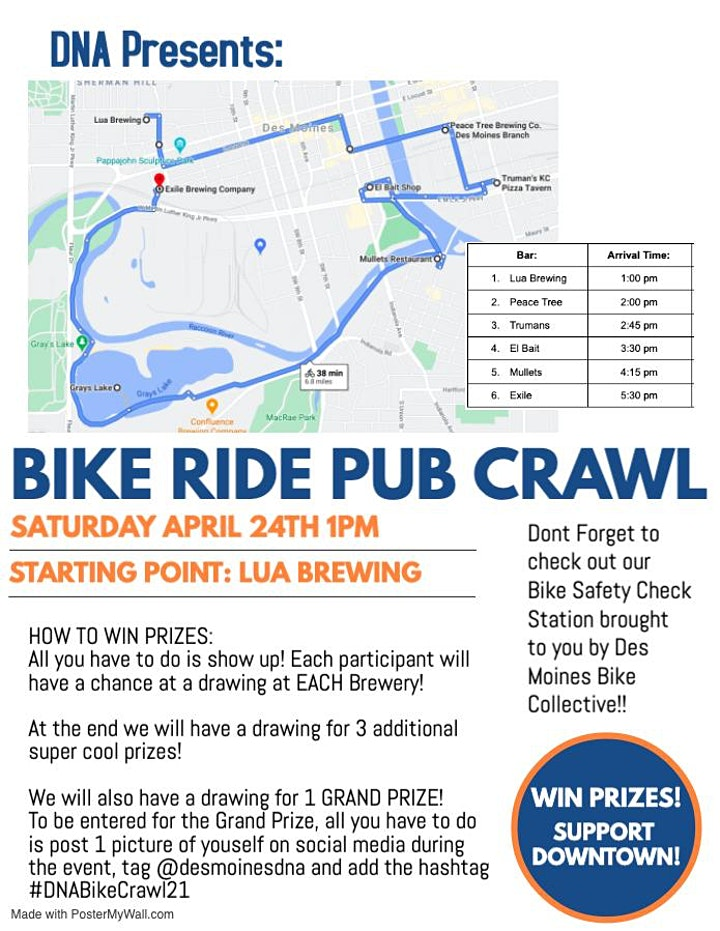 April 2021 Social - DNA Bike Ride Pub Crawl image