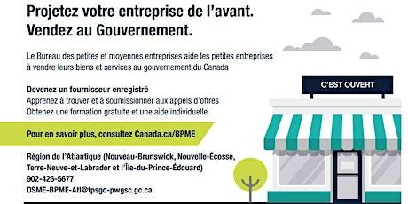 Trouver des occasions d'affaires sur le site Achatsetventes.gc.ca billets