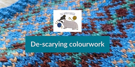 De-scarying colourwork - online knitting workshop for Fibre Block Party tickets
