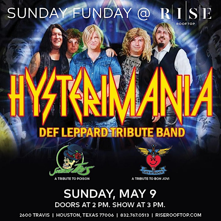 Hysterimania - A Tribute to Def Leppard @ RISE Rooftop image
