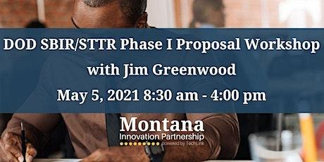 Montana Innovation Partnership DoD SBIR/STTR  Online Proposal Lab tickets
