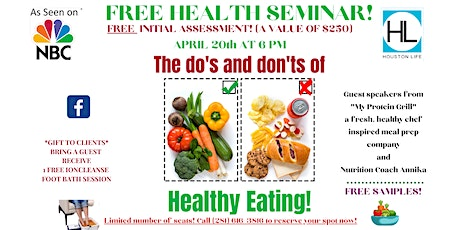 THE DO'S AND DON'TS OF HEALTHY EATING! tickets