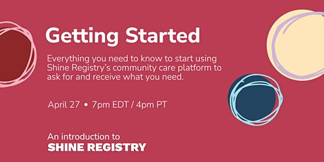 Getting Started with Shine Registry tickets