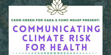 Communicating Climate Risk for Health tickets