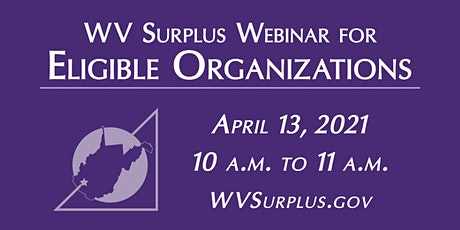 WV Surplus Eligible Organizations Webinar tickets
