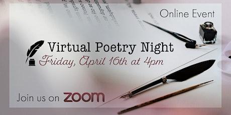Virtual Poetry Night tickets