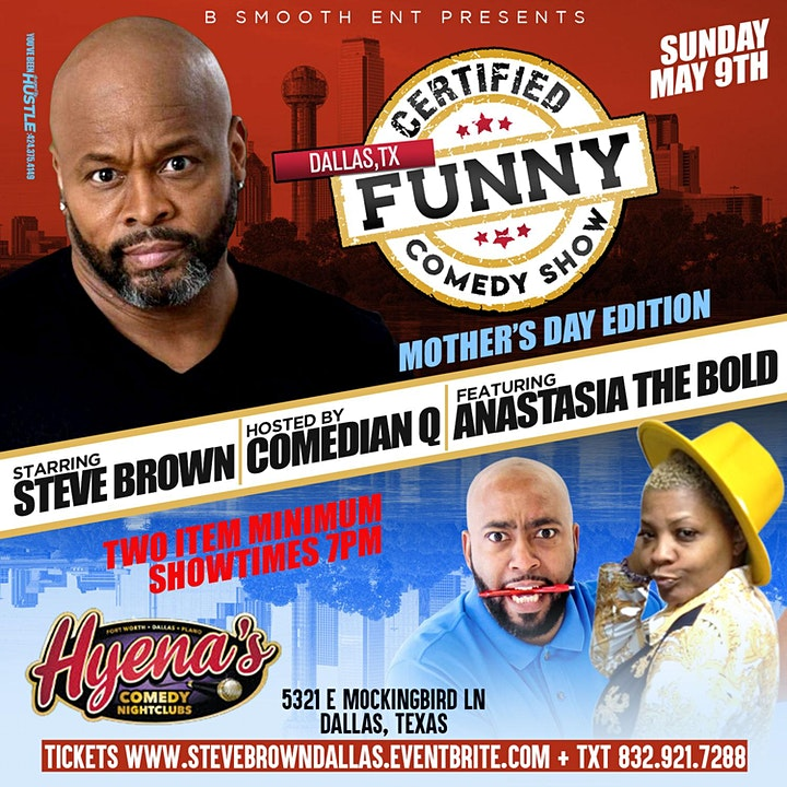 Dallas Tx Certified Funny Comedy Show Starring Steve Brown image