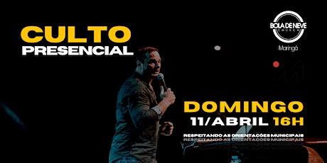 CULTO DOMINGO | TARDE | 11/04 | 16h ingressos